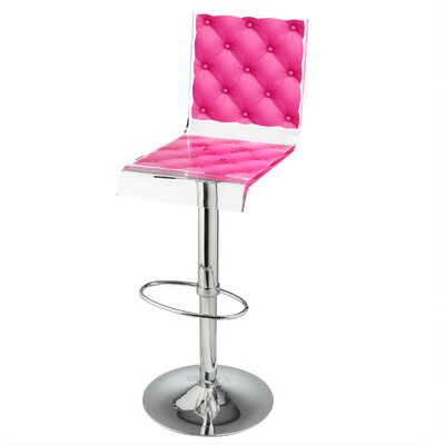 Capiton 45 Swivel Bar Stool Upholstery: Pink