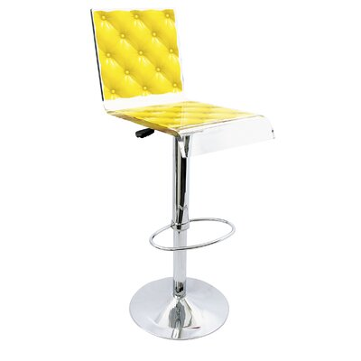 Capiton 45 Swivel Bar Stool Upholstery: Yellow