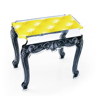 Capiton Acrylic Tufted Design Side Table Finish: Yellow