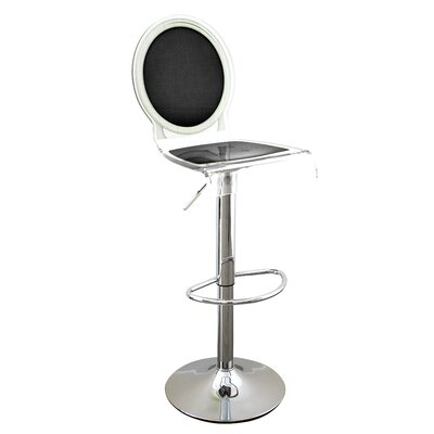 Medallion Sixteen 31 inch Swivel Bar Stool Upholstery: White, Finish: Black