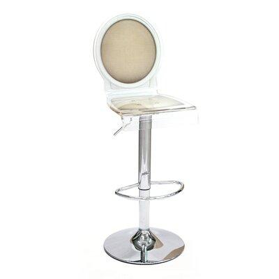 Medallion Sixteen 31 Swivel Bar Stool Upholstery: Taupe, Finish: White