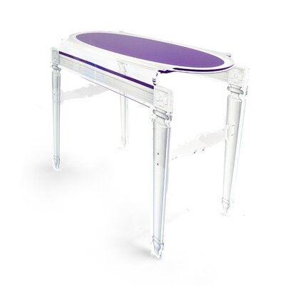Medallion Sixteen Acrylic Console Table Finish: Violet