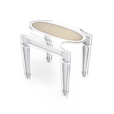 Mariaella Acrylic End Table Color: Taupe