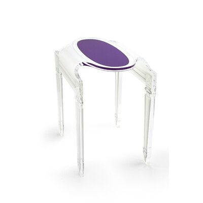 Mariaella Acrylic End Table Color: Violet