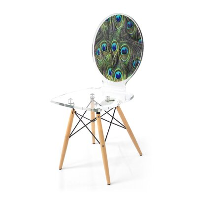 Snively Peacock Feathers Side Chair