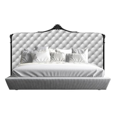 Bartlet Tufted Panel Headboard Size: King, Color: White