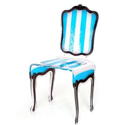 Snedeker Side Chair Upholstery: Blue