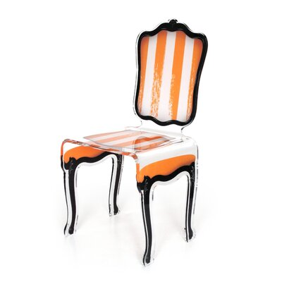 Snedeker Side Chair Upholstery: Orange