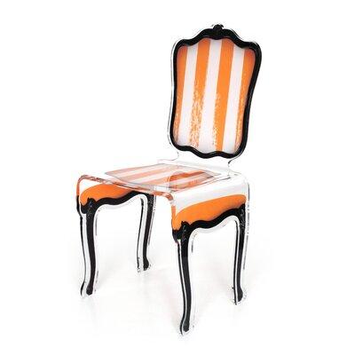 Snedeker Side Chair Upholstery: Orange