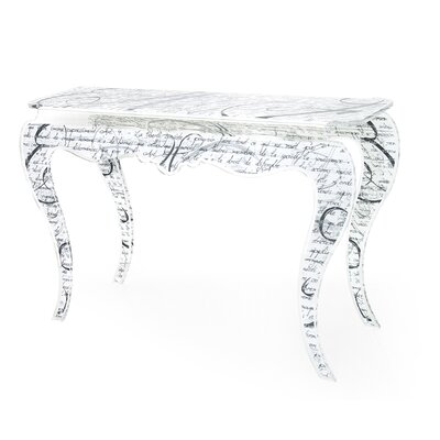 Laraine Console Table Color: White