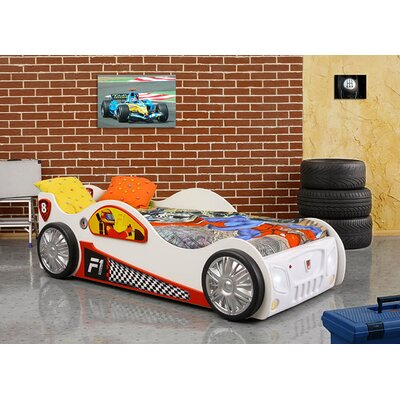 Monza Toddler Car Bed Color: White