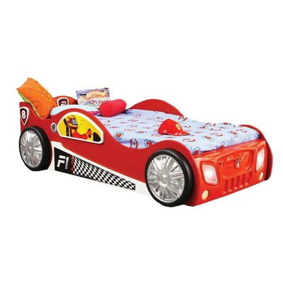 Monza Toddler Car Bed Color: Red