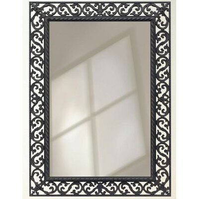 Rectangle Iron Scroll Accent Wall Mirror