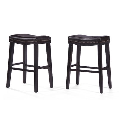 Gladys 30 Bar Stool Upholstery: Leather - Brown