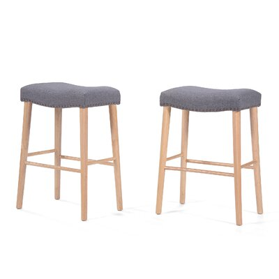 Bonita 30 Bar Stool Upholstery: Charcoal