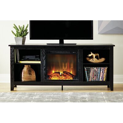 Sunbury TV Stand with Electric Fireplace Finish: Black