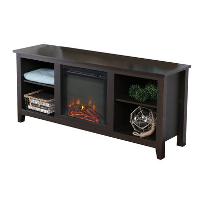 Sunbury 58 TV Stand with Optional Fireplace Color: Espresso, Fireplace Included: Yes