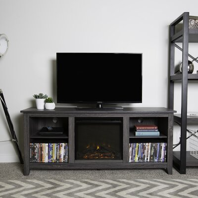Sunbury TV Stand with Electric Fireplace Finish: Charcoal