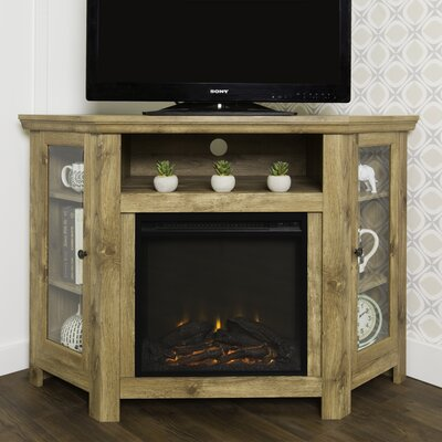 Rena Corner 48 TV Stand with Fireplace Color: Barnwood