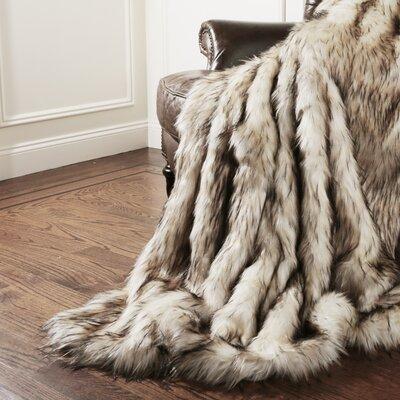 Geneva Bleached Finn Throw Blanket Size: 58 x 84