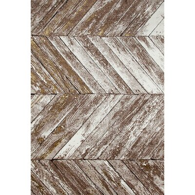 Ariel Beige/Gold Indoor/Outdoor Area Rug Rug Size: 4 x 5