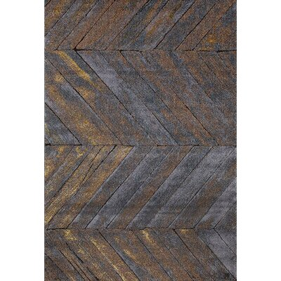 Victoria Gray Indoor/Outdoor Area Rug Rug Size: 5 x 7