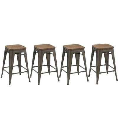 Desiree 24 Bar Stool Finish: Copper