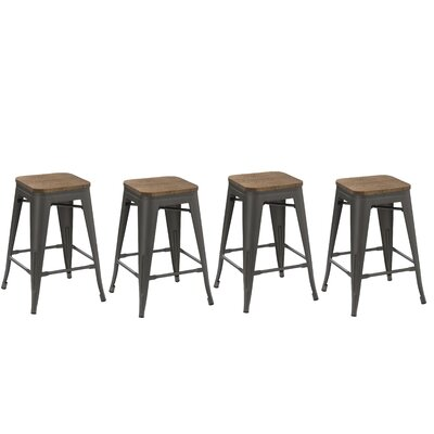 Desiree 24 Bar Stool Finish: Gunmetal