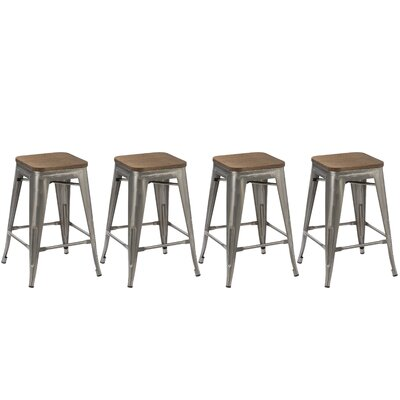 Desiree 24 Bar Stool Finish: Stainless Steel