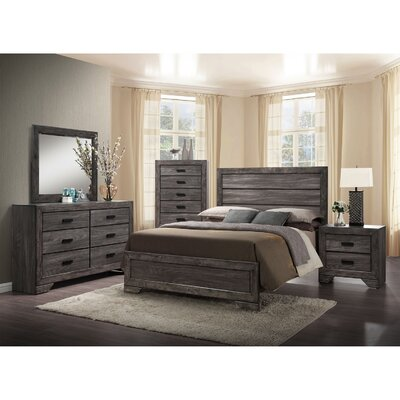 Raven Panel 5 Piece Bedroom Set Size: King