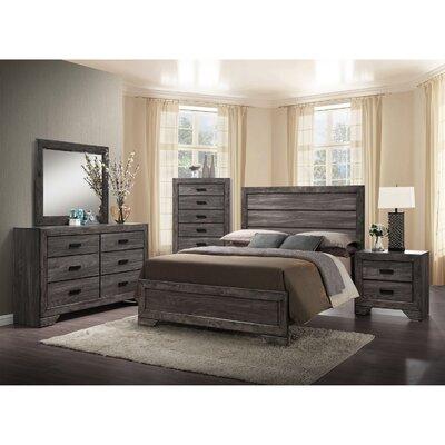 Raven Panel 5 Piece Bedroom Set Size: Queen