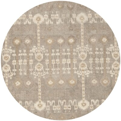 Roberts Hand-Tufted Brown Area Rug Rug Size: Round 7
