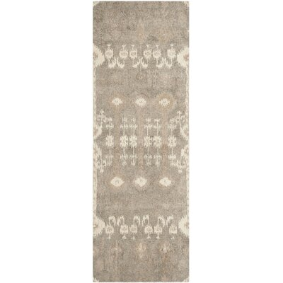 Roberts Hand-Tufted Brown Area Rug Rug Size: Runner 23 x 9