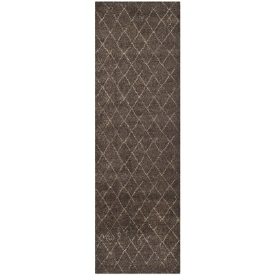 Bennett Dark Brown Rug Rug Size: Runner 26 x 6