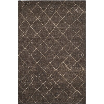 Bennett Dark Brown Rug Rug Size: Rectangle 51 x 76