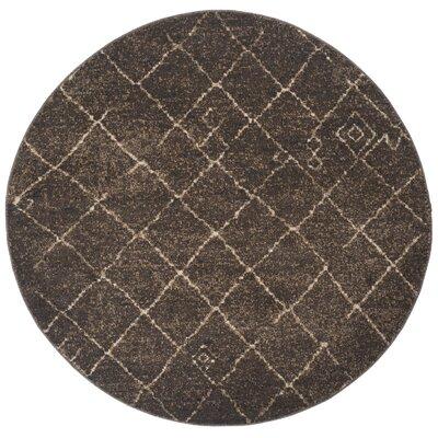 Bennett Dark Brown Rug Rug Size: Round 6
