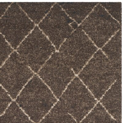 Bennett Dark Brown Rug Rug Size: Square 6