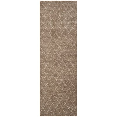 Bennett Brown Area Rug Rug Size: Runner 26 x 10