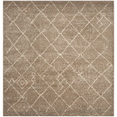 Bennett Brown Area Rug Rug Size: Square 6