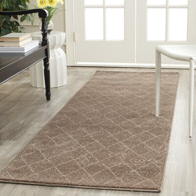 Bennett Brown Area Rug Rug Size: Runner 26 x 6