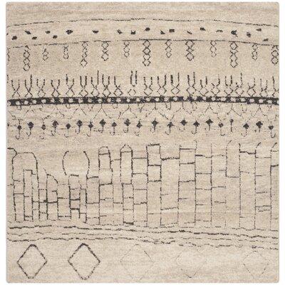 Ximena Beige Area Rug Rug Size: Square 6