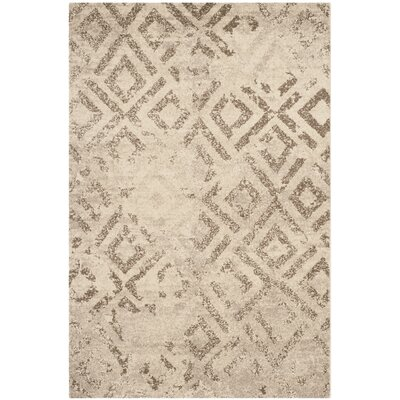 Bennett Ivory/Taupe Area Rug Rug Size: Rectangle 51 x 76