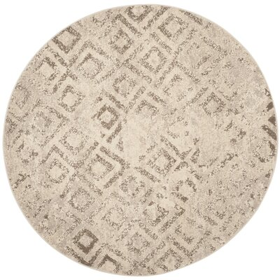 Bennett Ivory/Taupe Area Rug Rug Size: Round 6