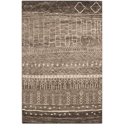 Bennett Brown Area Rug Rug Size: 4 x 6