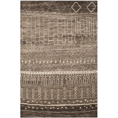 Bennett Brown Area Rug Rug Size: 51 x 76