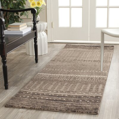 Ximena Brown Area Rug Rug Size: Runner 26 x 8