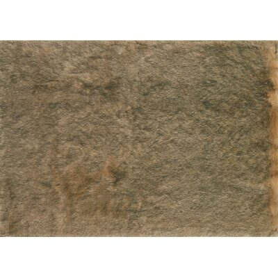 Ashleigh Faux Fur Beige/Black Area Rug Rug Size: Rectangle 10 x 13