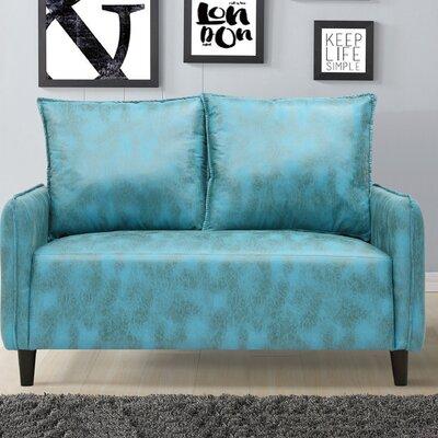 Jordyn Morden Loveseat Upholstery: Blue