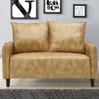 Jordyn Morden Loveseat Upholstery: Gold