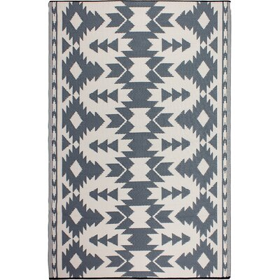 Tayler Gray Indoor/Outdoor Area Rug Rug Size: 6 x 9